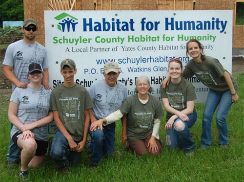 Corning Chiropractic participates in Habitat for Humanity